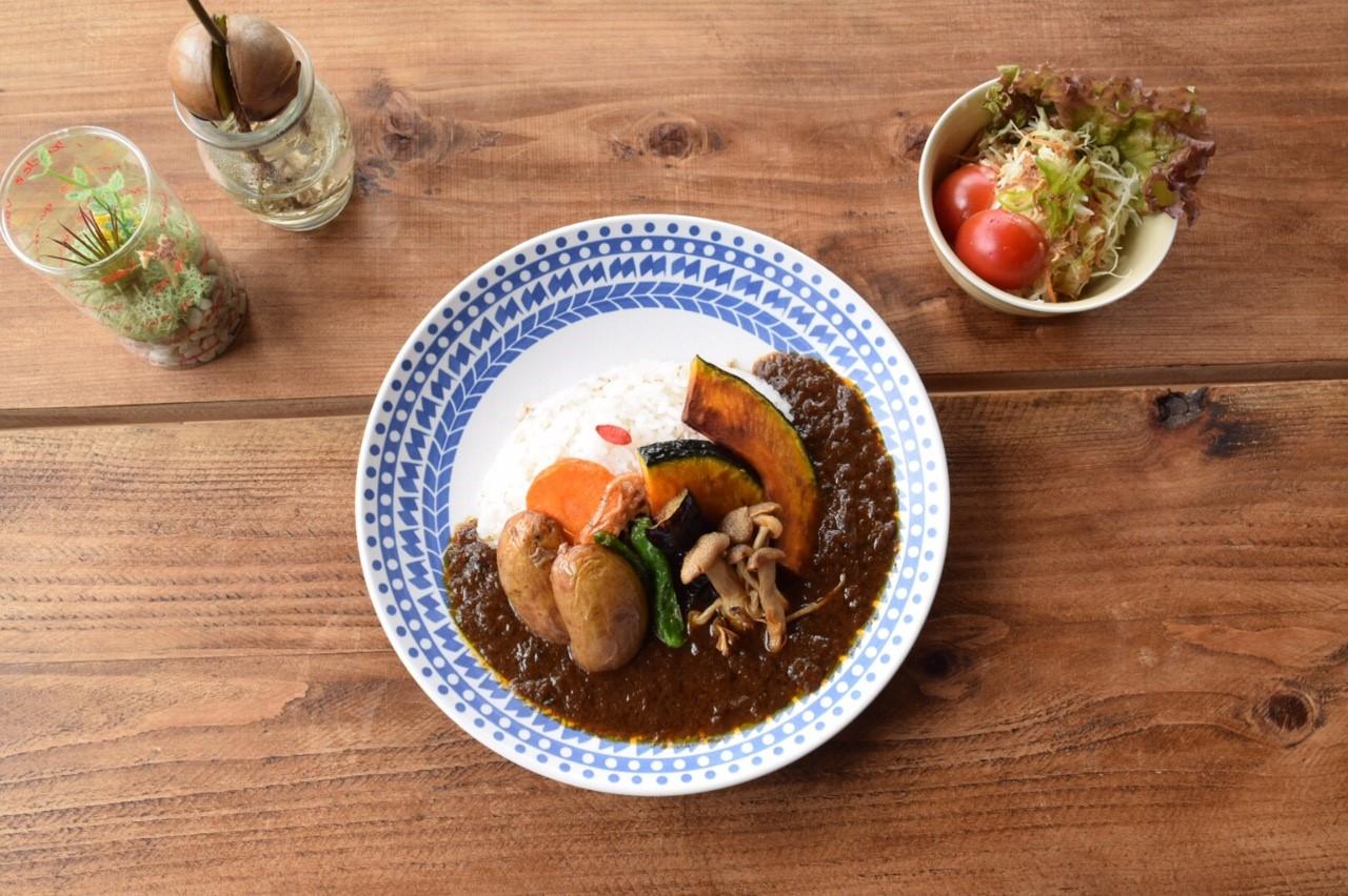 野菜の素揚げカレーの写真